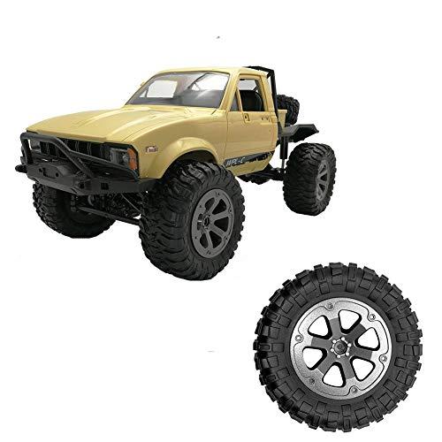 Neumáticos de coche de juguete, neumáticos grandes con bolsa de plástico para el dragón travieso WPL B-1 B-14 C-24, 73.333.8MM / 2.881.33in