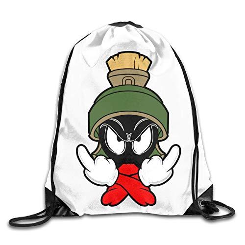 JHUIK Drawstring Bag Backpack,Marvin The Martian Fashion Sac à Dos Design épaule Sac à Cordon Homme Femme Sacs Taille Unique