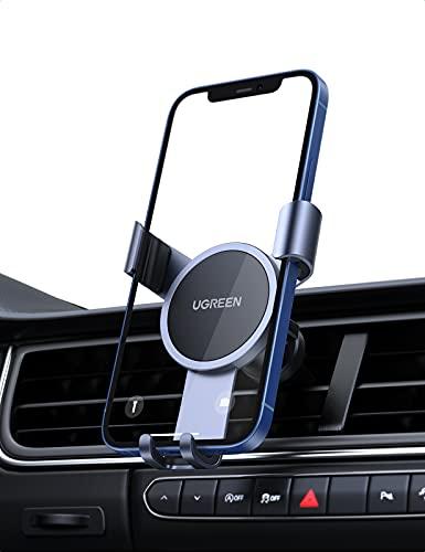 UGREEN Handyhalterung Auto Lüftung Schwerkraft Geräuschlos 360 Grad Handyhalter fürs Auto Handy Halterung Kfz Autohalterung Handy kompatibel with iPhone Galaxy Redmi Xiaomi Huawei Smartphone usw.