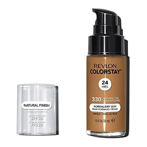 REVLON, Fondotinta Colorstay per pelli secche, flacone con dispenser, 30 ml, N° 330 Natural Tan