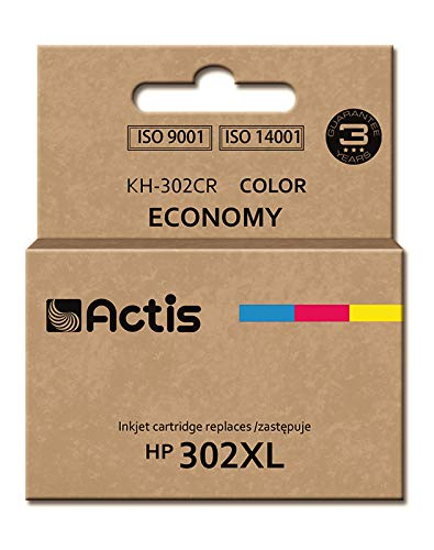 Actis KH-302CR color ink cartridge for HP printer (HP 302XL F6U67AE replacement)