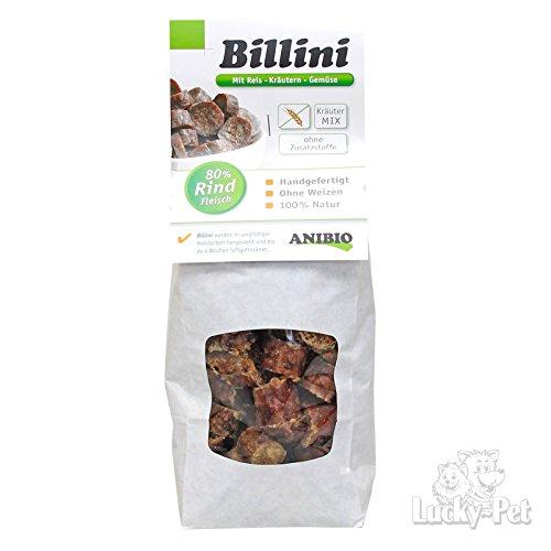 ANIBIO Leckerlie BILLINI Reis-Kräuter-Gemüse 130g für Hunde