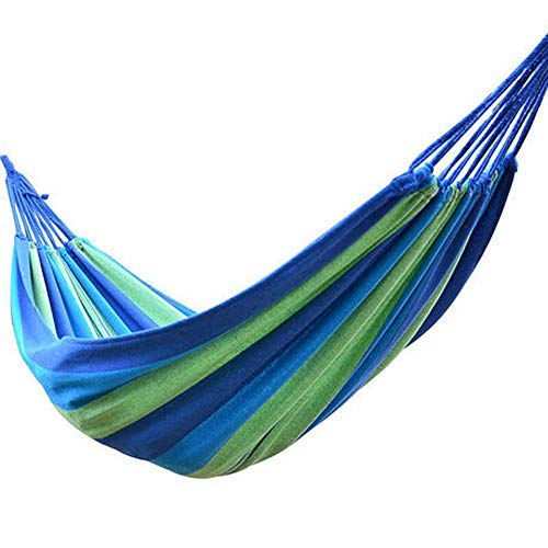Qingxin Double Wide Thick Canvas Hammock Portable Outdoor Camping Garden Hanging Swing Hammock