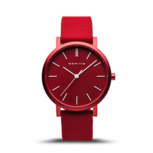 BERING Unisex Analog Quartz Uhr mit Silikon Armband 16934-599