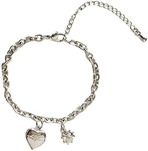 NC190 Collar de Moda, Pulsera con Personalidad, Temperamento estudiantil, Pulsera con Letras de Amor, Diamante más pequeño, joyería de Mano para Mujer
