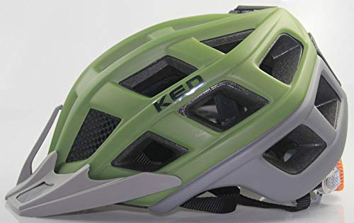 KED Crom - inkl. RennMaxe Sicherheitsband - Fahrradhelm Skaterhelm MTB BMX Erwachsene Jugendliche (Olive matt, 57-62 cm)