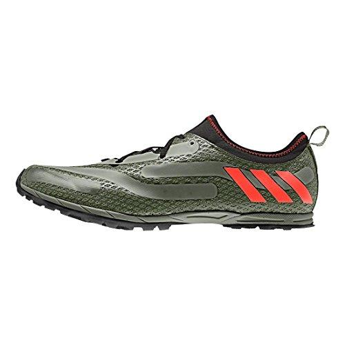 adidasxcs Spikeless-M - XCS Spikeless Hombres, Verde (Verde/Rojo/Negro), 7,5 D(M) US