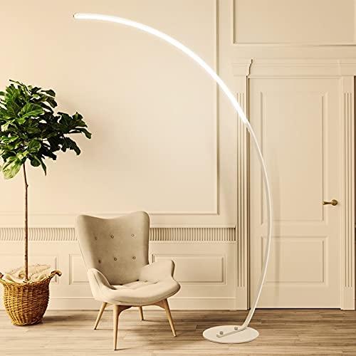 YAS Eking LED Moderna Lámpara de piso simple Lámpara de pie Lámpara de pie Decoración de arte nórdico Compatible con sala de estar Dormitorio Sala de estudio Luz (Body Color : Dimmable with remote)