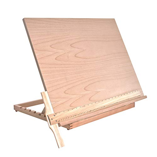 US Art Supply Extra Large Adjustable Wood Artist Drawing & Sketching Board 26' Wide x 21' Tall