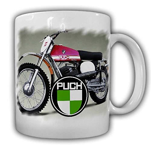 Tasse Puch Vintage Motorradbekleidung Motorradzubehör Kaffeebecher Motocross Enduro #24139