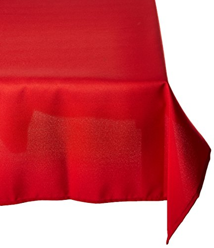 Remedios 90 x 132-inch Rectangle Polyester Tablecloth Table Cover - Wedding Restaurant Party Banquet Decoration, Red
