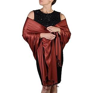 Bronze York Shawls Pashmina Scarf Wrap Shawl Stole - Tassel Finishing - Handmade with Free Hanger:Firmwarerom