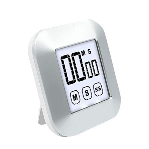 TARTIERY Temporizador digital de cocina, temporizador de cocina con pantalla táctil, cuenta regresiva, reloj magnético para niños profesores de cocina, pantalla LCD grande, imán fuerte