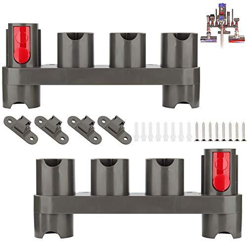 RTop Soporte para Accesorios de Montaje en Pared para Accesorios de aspiradora Dyson V7 V8 V10 V11, Soporte para Accesorios Dyson (10 enchufes de Almacenamiento, Paquete de 2)