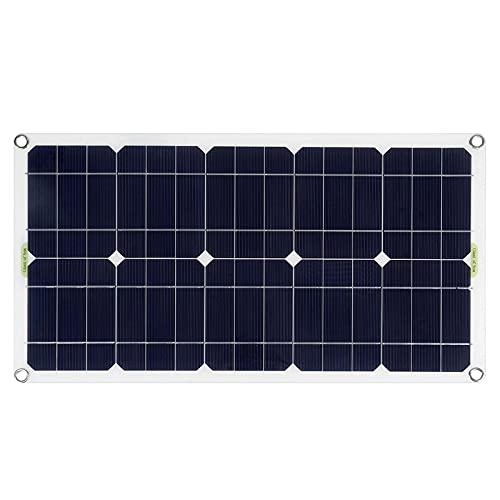 KELUNIS Pannello Solare 80/150/200W 18V Kit Modulo Fotovoltaico, Caricabatterie per Sistema Solare Monocristallino per Camper, Barche, Tetti, Superfici Irregolari,200w
