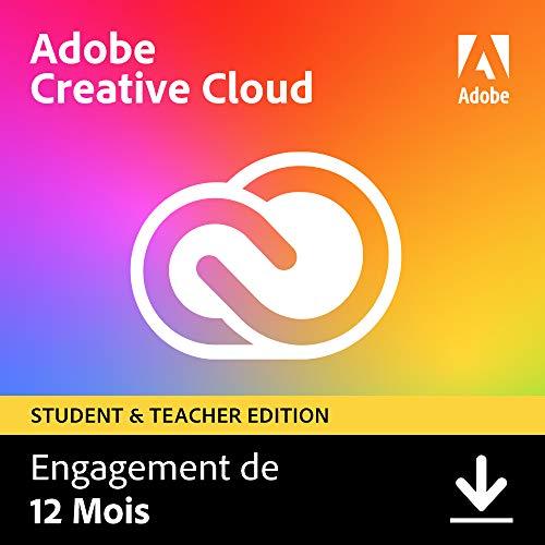Adobe Creative Cloud All Apps | Étudiants/Enseignants | 1 an | PC/Mac | Téléchargement