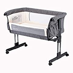 Easy to attach or remove from parents' bed using the two fastening straps provided. 7 height positions to suit parents' bed. Two-side mesh makes more breathable and cozy room. Easy-open side panel for bedside mode. Stable bottom supported and comfort...
