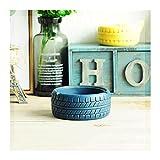 SHIJIE1701AA Cenicero de Mesa Cemento Retro Industrial Ashtray Sala de Estar Mesa de café Ceniza Bandeja Decoraciones Personalizadas Creativas Regalos Cenicero para Mesa de café (Color : Blue)