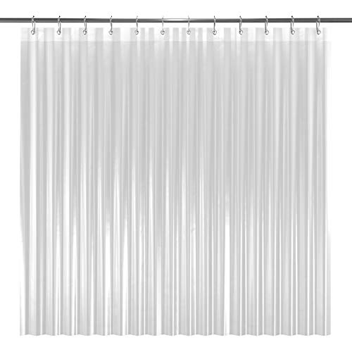 LiBa PEVA 8G Bathroom Shower Curtain Liner, 72' W x 72' H, Clear, 8G Heavy Duty Waterproof Shower Curtain Liner