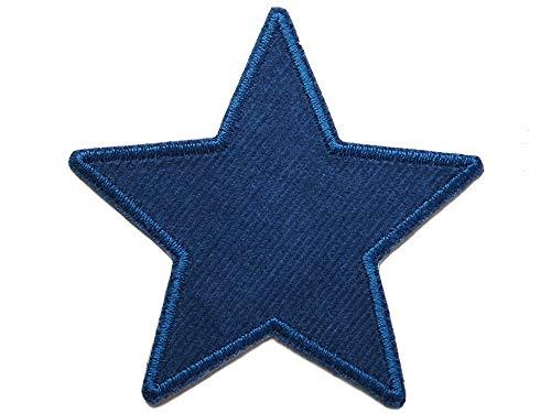 Stern Flicken Cord dunkelblau, Hosenflicken Bügelflicken für Cordhosen