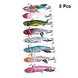 LIOOBO 8Pcs Esche per La Pesca di Pesci in Metallo Artificiali Come Esche per Spinnerbait ...