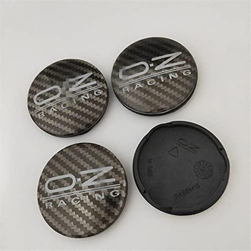 4pcs Car Wheel Center Hub,for OZ Racing M595, Black Wheel Rim Center Hub Cap Cover Outer Diameter=62mm Inner Diameter=58mm