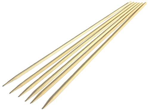 sellaviva Schaschlik-Spieße Bambus-Holz 25cm - 80 Stück | Grillspieße Holz Fleischspieße Holz für Grill