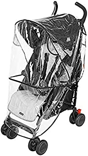 Clear Rain Wind Weather Cover Shield Protector with Ventilation to fit Peg Perego Child Strollers Joggers (Pliko Mini)