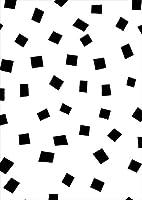 igsticker ポスター ウォールステッカー シール式ステッカー 飾り 841×1189㎜ A0 写真 フォト 壁 インテリア おしゃれ 剥がせる wall sticker poster 012711 四角 白黒 モノトーン