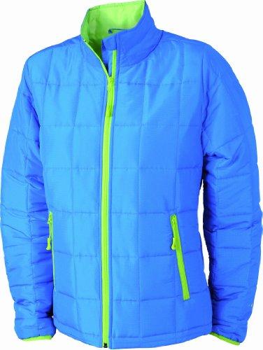 James & Nicholson Damen Jacke Steppjacke Padded Light Weight blau (aqua/limegreen) X-Large