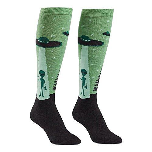 Sock It To Me, I Believe, Womens Knee-High Tube Socks, Alien and UFO Socks