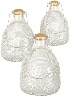 BestNest Three Pack of Esschert Design Hobnail Glass Wasp Traps
