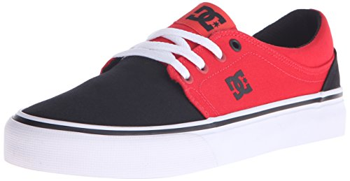 DC Shoes Womens Shoes Trase Tx - Low Shoes - Women - US 5.5 - Black Black/Poppy Red US 5.5 / UK 3.5 / EU 36.5