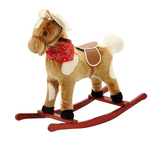 Mecedoras para Niño Juguete de Rocking Horse for interiores y exteriores, mecedor de madera for niños, Ride on Toy for niños de 1 a 3 años, Rocking Animal for niños, mecedora for niña / infantil Silla