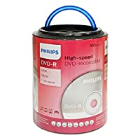 Philips 16X DVD-R Media 100 Pack in Spindle Handle (DM4S6H00F/17) from Philips
