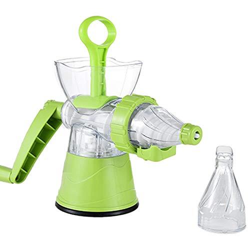 RETYLY Multifuctional Kitchen Manuelle Handkurbel Single Auger Juicer mit Saugfu? Hand Juicer für Weizengras Obst GemüSe