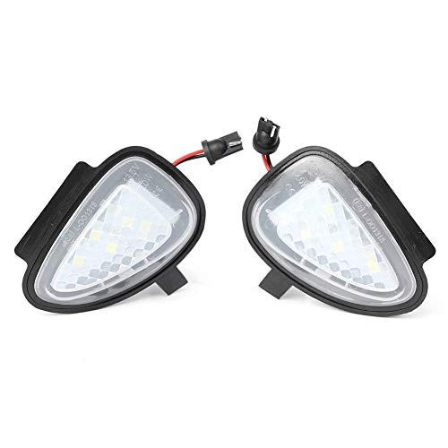 GZLMMY 1 paire sans erreur LED côté Miroir flaque lumière Rétroviseur côté lampe de sol pour golf 6 Touran