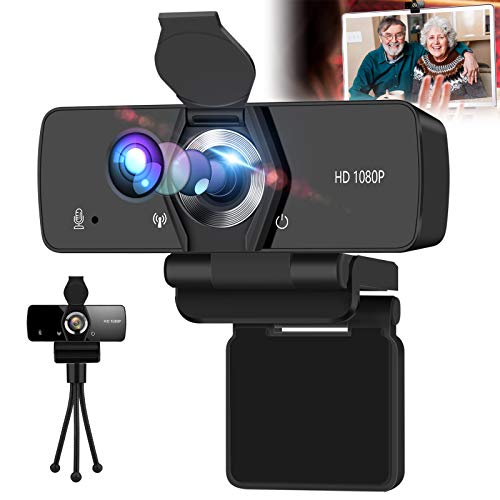 SFABF Webcam with Microphone,1080P HD Webcam USB Web Camera for Desktop & Computer,HD Web Cam Rotatable Video Camera with Mic Laptop Desktop PC Camera for Video Conference Recording Streaming Studying