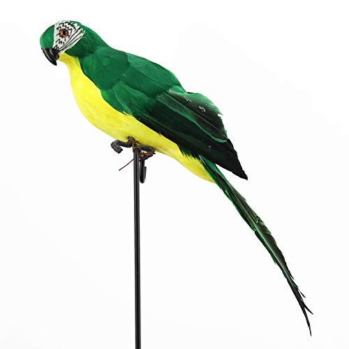 Picturer7 - Figura Decorativa de Ornamento de Loro, diseño Realista, decoración de árbol de jardín, Verde, Tamaño Libre