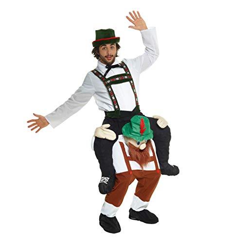 Morph Oktoberfest Huckepack Kostüm für Erwachsene