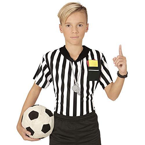 WIDMANN Camiseta de árbitro de fútbol niño 11-13 años (146/158)