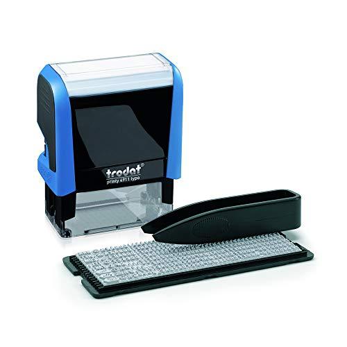 Trodat Printy 4911 Typo – Timbro autoinchiostrante autocomponibile - 3 Righe di testo – Nero