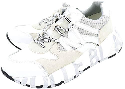 VOILE BLANCHE CLUB100-Sneaker in Cordura e Vitello Bianco 39