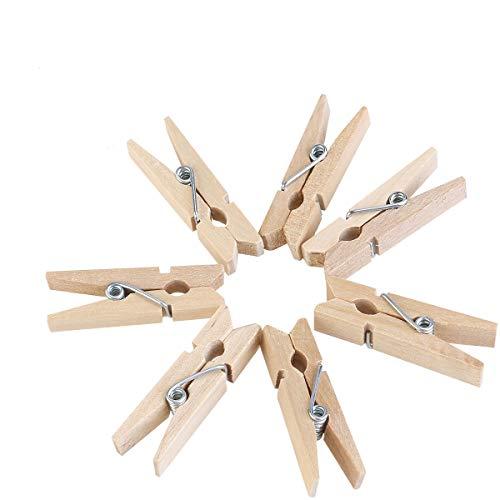 ULTNICE 3.5 cm Mini pinza madera foto arte Clips - 100pcs