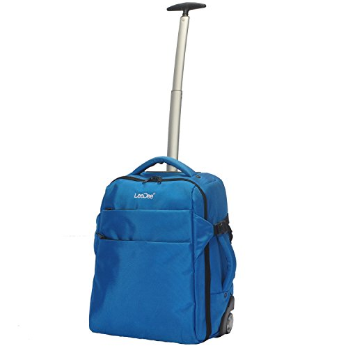 3 in 1 Wheeled Cabin Approved Trolley Travel Bag Flight Backpack Hand Luggage Suitcase Holdall Laptop Bag (Royal Blue)