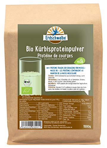 Erdschwalbe Bio Kürbiskern Protein - 58% Proteingehalt - Veganes Eiweißpulver - 1 Kg