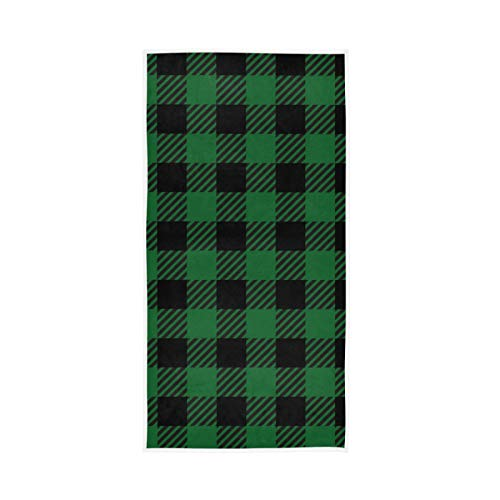 RURUTONG Paquete de 1 toalla de mano a cuadros de Buffalo suave de secado rápido para cocina, natación, spa, gimnasio, decoración 30 x 15 pulgadas 2010234