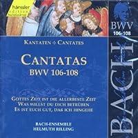 Bach: Cantatas, BWV 106-108 (Edition Bachakademie Vol 34) /Rilling by Johann Sebastian Bach (1999-10-18)