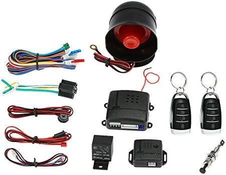 KKmoon Universal Car Vehicle Security System Burglar Alarm Protection Anti Theft System 2 Black product image