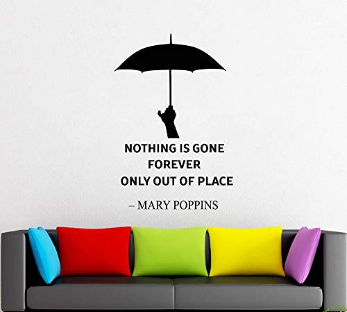 Regenschirm Nanny Wandtattoo Fensteraufkleber Design Handmade 8